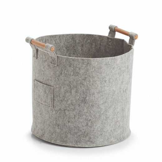 Cos pentru depozitare, Storage Round Big Gri, Ø35xH32,5 cm