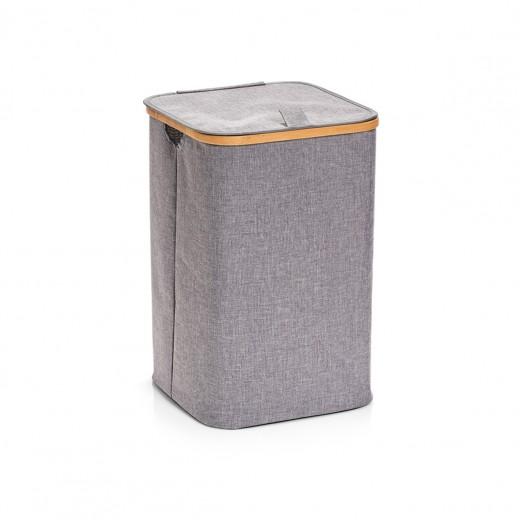 Cos pentru rufe cu capac, Grey Poliester, l33xA33xH50 cm