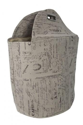 Cos pentru rufe cu manere Writings Multicolor, Ø40xH45 cm