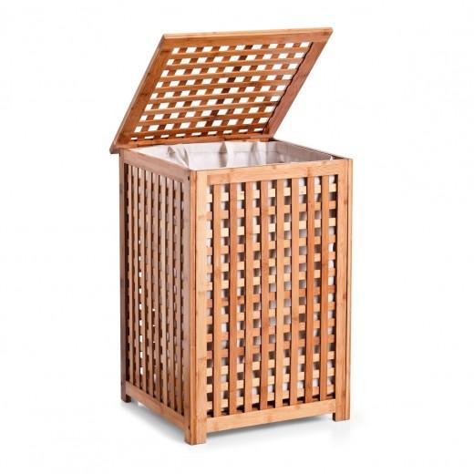 Cos pentru rufe, Natural Bamboo, l40xA40xH58 cm