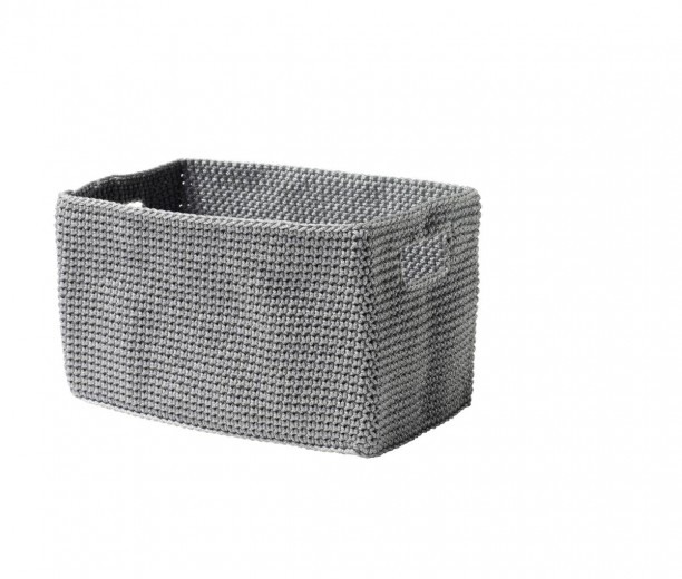 Cos tricotat pentru depozitare Roll L22xl13 cm, Zone-Gri