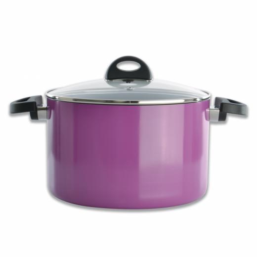 Oala cu capac, Purple, 6,6 L, Eclipse Line