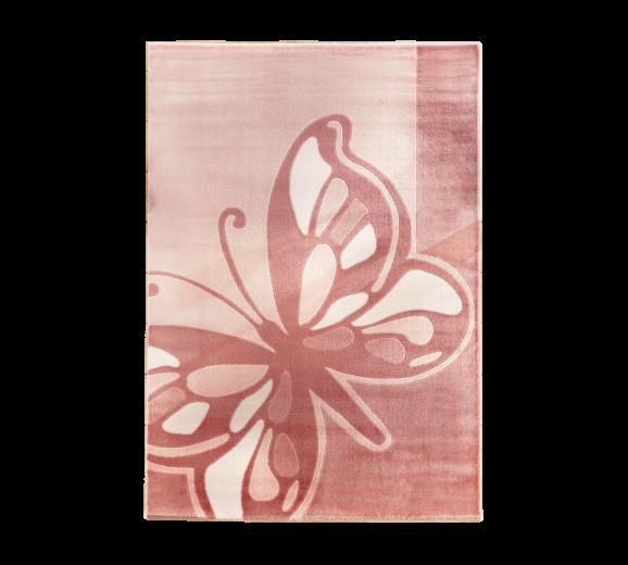Covor pentru copii Butterfly Pink, 133 x 190 cm
