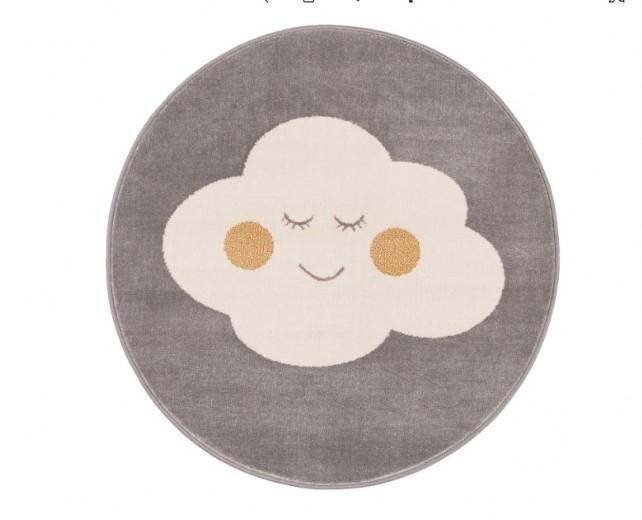 Covor din PP Cloud Grey Round, Wilton