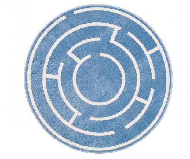 Covor din PP Labic Blue Round, Wilton