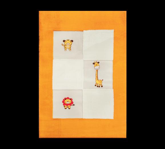 Covor pentru copii Cute Animals Orange / White, 120 x 180 cm