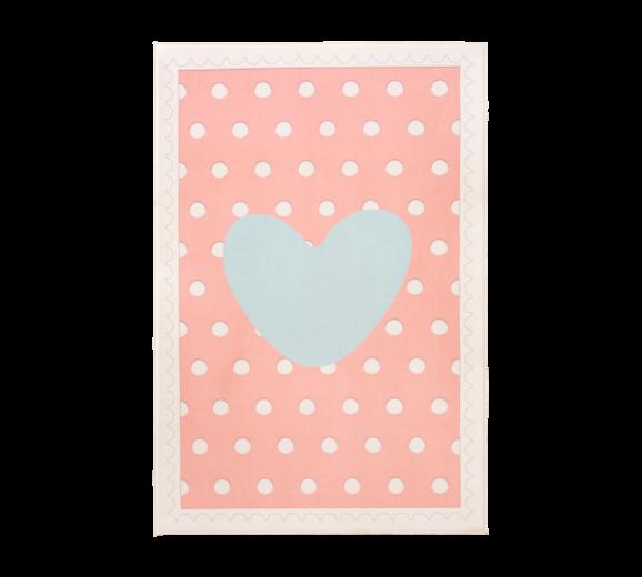 Covor pentru copii din PE Soft Happy Pink, 100 x 150 cm