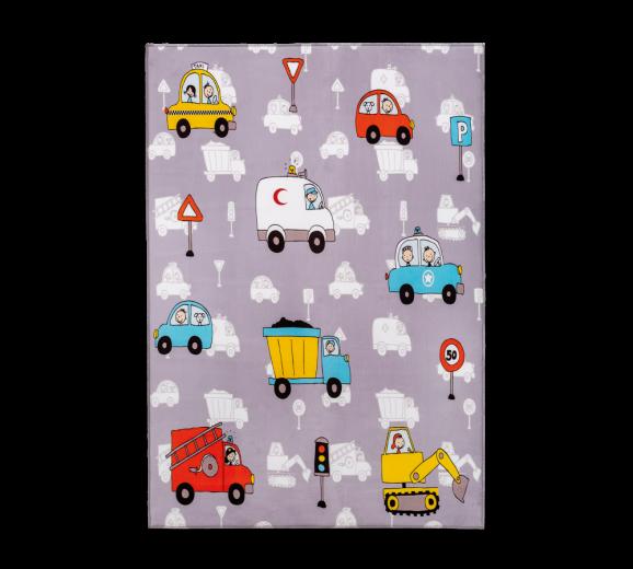 """Covor pentru copii din PE """"Soft Minical Vehicle"""" Multicolour, 100 x 150 cm"""