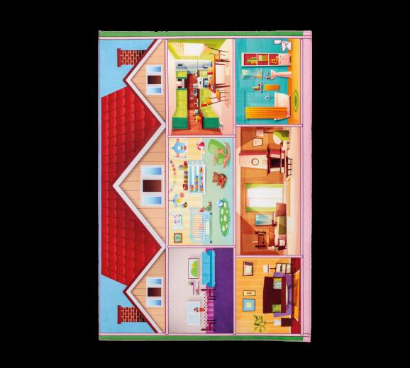 """Covor pentru copii din PE """" Soft Play House"""" Multicolour, 100 x 150 cm"""