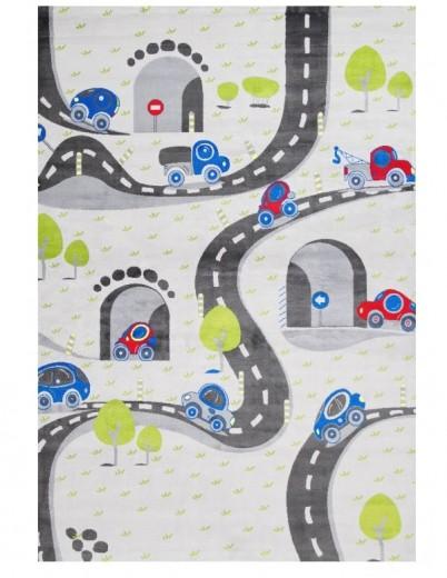Covor pentru copii Junior Roads, Multicolor JU-312F