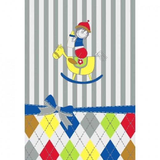 Covor pentru copii Junior Toy Horse, Multicolor JU-310E