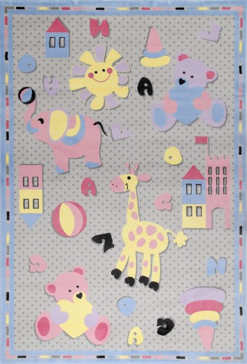 Covor pentru copii Junior Toys, Multicolor JU-304B