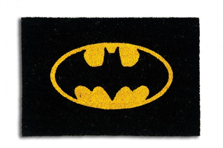 Covoras de intrare, din fibre de cocos si PVC, 40 x 60 cm, Superhero Batman