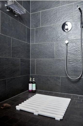 Covoras pentru baie antiderapant, din plastic, Duckboard Alb, 55 x 55 cm