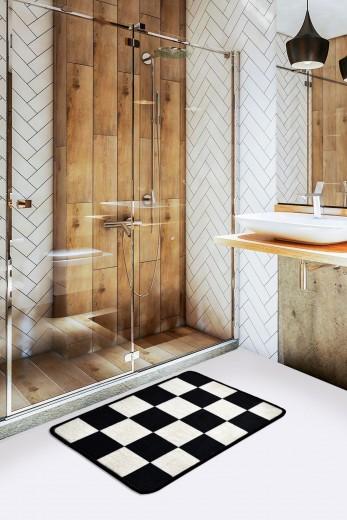 Covoras pentru baie Dama Alb / Negru, 40 x 60 cm