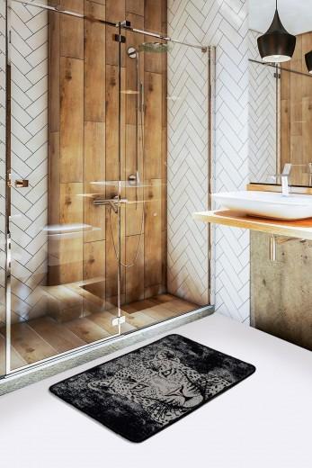 Covoras pentru baie Tiger Alb / Negru, 40 x 60 cm