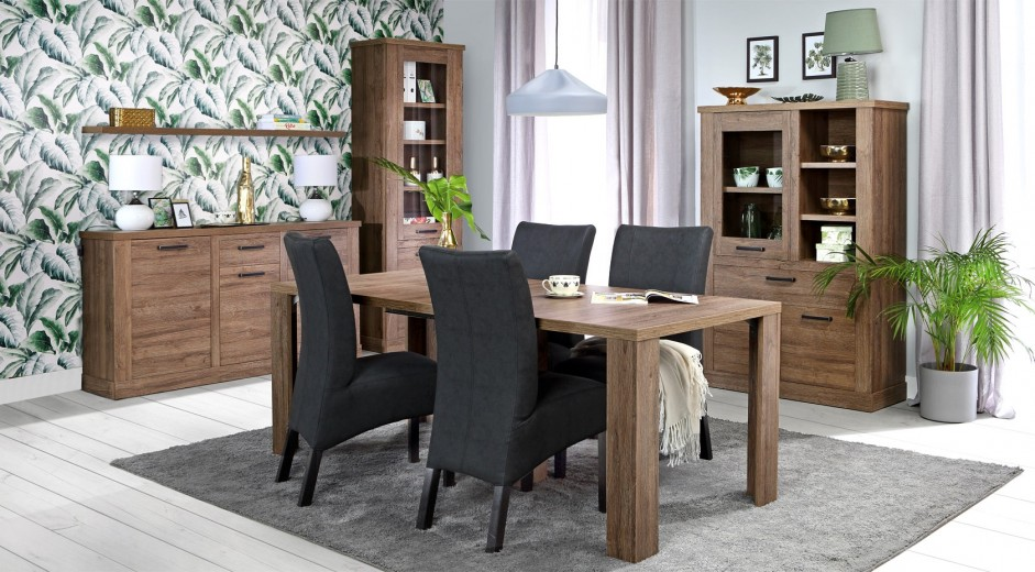 "Set de mobila dining din pal 5 piese ""Cristal' Oak"