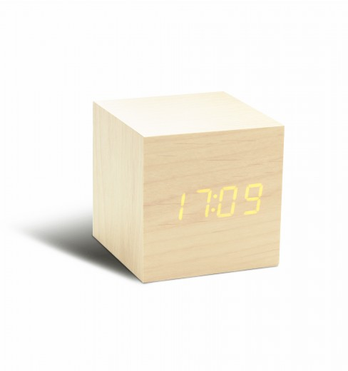 Ceas inteligent Cube Click Clock Maple/Orange