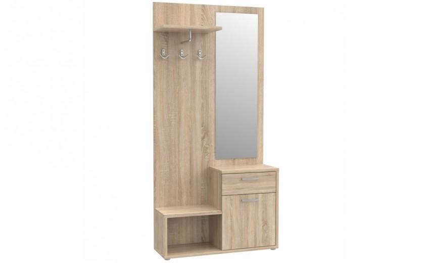 Cuier cu oglinda Nikita, l90xA30xH187 cm