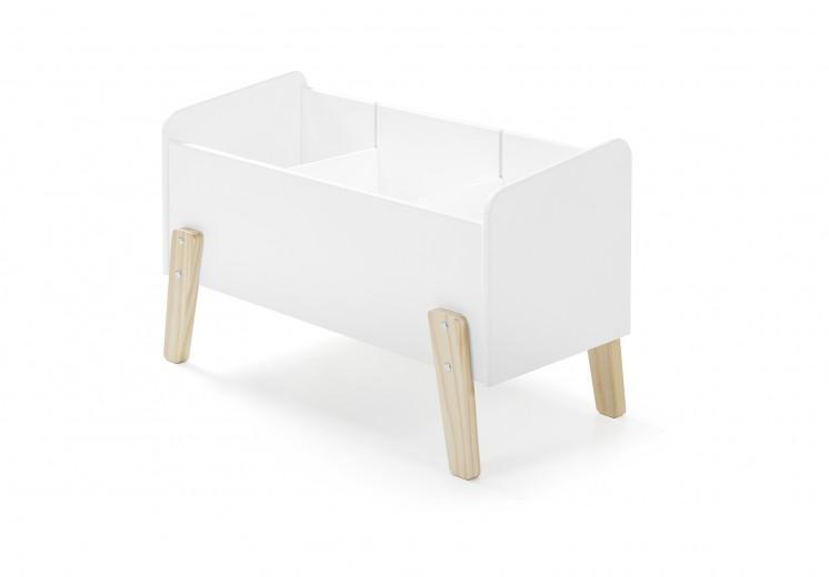 Cutie depozitare jucarii, din lemn de pin si MDF Kiddy Alb, l80xA39xH47 cm
