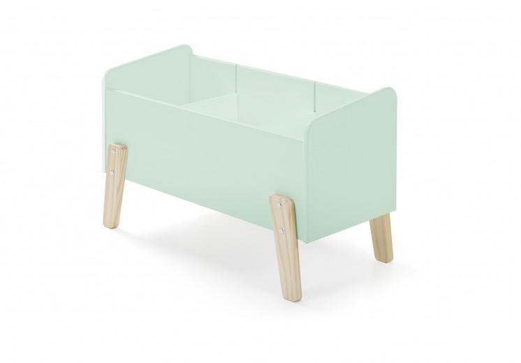 Cutie depozitare jucarii, din lemn de pin si MDF Kiddy Verde Mint, l80xA39xH47 cm