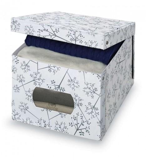 Cutie pentru depozitare din carton, Scatola XL Alb / Gri, L50xl42x31 cm