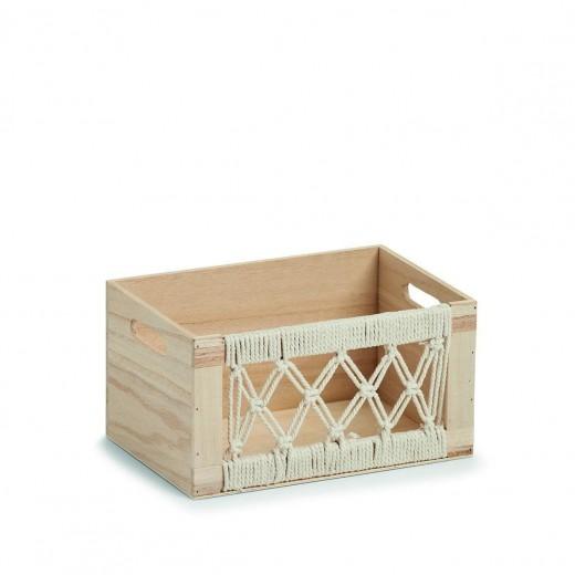 Cutie pentru depozitare din lemn, Boho Natural, L30xl20xH16 cm