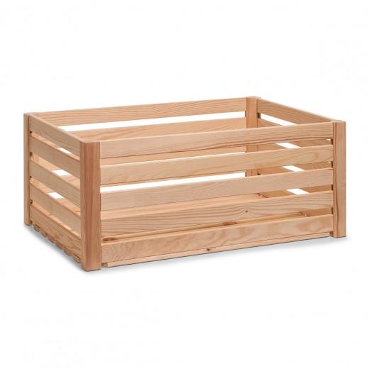 Cutie pentru depozitare din lemn, Pine Natural, L60xl40xH24 cm
