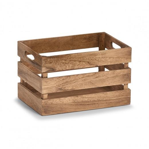 Cutie pentru depozitare din lemn, Vintage Small Maro, L31xl21xH19 cm
