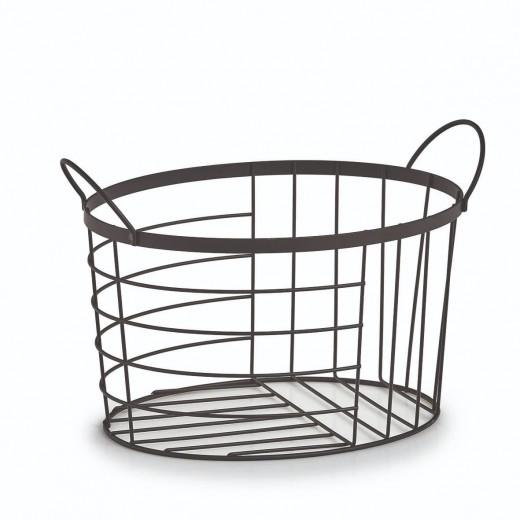 Cos pentru depozitare din metal, Basket Negru, L35xl23,5xH23 cm