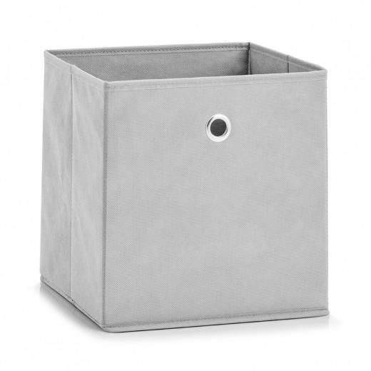 Cutie pentru depozitare Fleece, Pastel Colors, l28xA28xH28 cm-Gri deschis