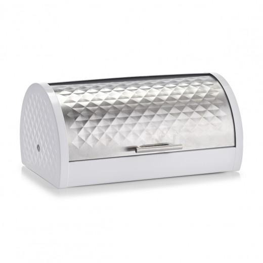 Cutie pentru paine, Metal White, l39xA28xH19 cm