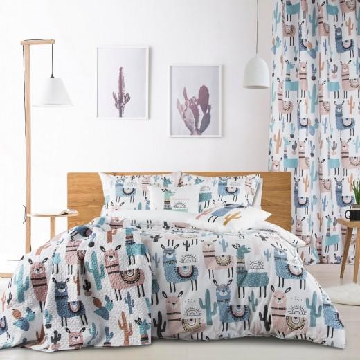 Cuvertura pat copii Lima Multicolor, 170 x 210 cm