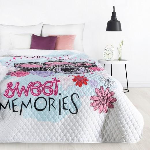 Cuvertura pat copii Sweet Multicolor, 170 x 210 cm