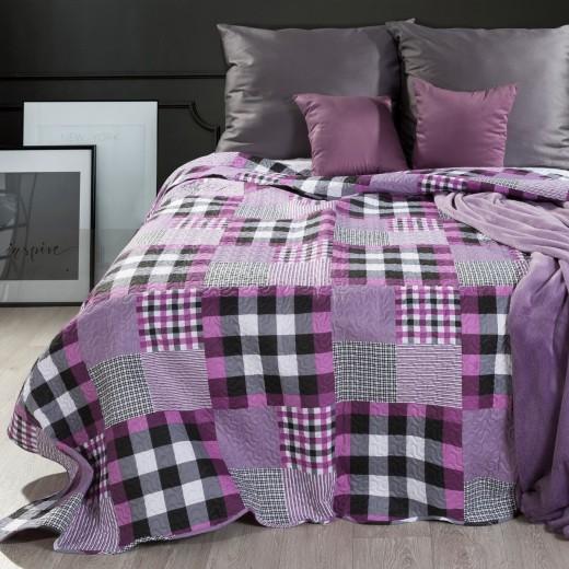 Cuvertura reversibila pat copii Harley Multicolour, 220 x 240 cm