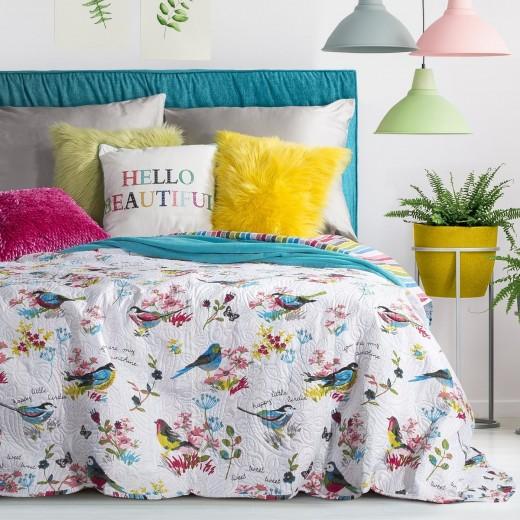 Cuvertura reversibila pat copii Quinn Multicolour 220 x 240 cm