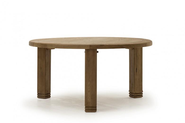 Masa din lemn de stejar Danube, Ø156xh79 cm