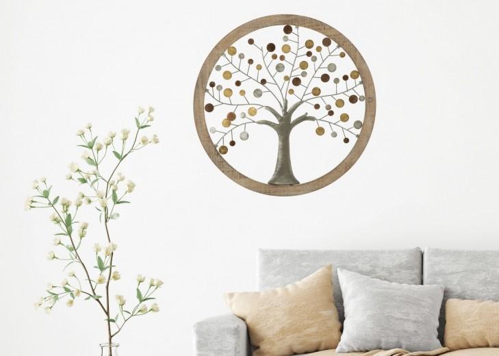 Decoratiune de perete Life Tree I Natural, Ø59 cm