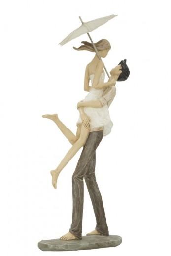 Decoratiune din rasina Couple in Love Natural, l16xA11xH36 cm