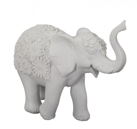Decoratiune din rasina Elefante B Gri, l25,5xA9xH21 cm