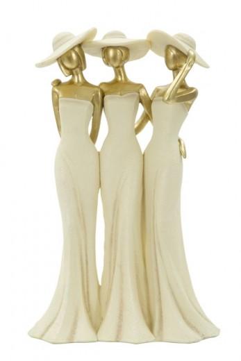 Decoratiune Ladys Gold, L19,5xl9,5xH31 cm