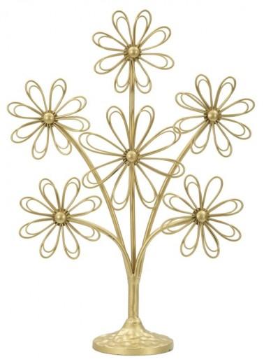"Decoratiune metalica ""Bigliettini Glam"" Gold, H 41,5 cm"