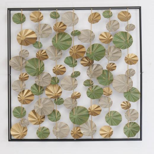 Decoratiune metalica de perete Arabesque Multicolor, l115xA11,5xH115 cm