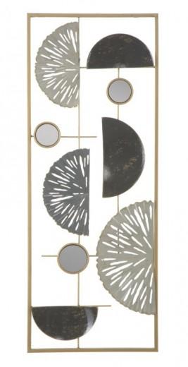 Decoratiune metalica de perete Geometric Multicolor, l28,5xA2,5xH74 cm