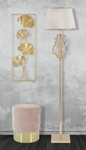 Decoratiune metalica de perete Iris-A Glam Auriu, l31xA3xH90 cm