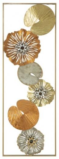 Decoratiune metalica de perete Leaf-B, L31,5xl3xH90 cm