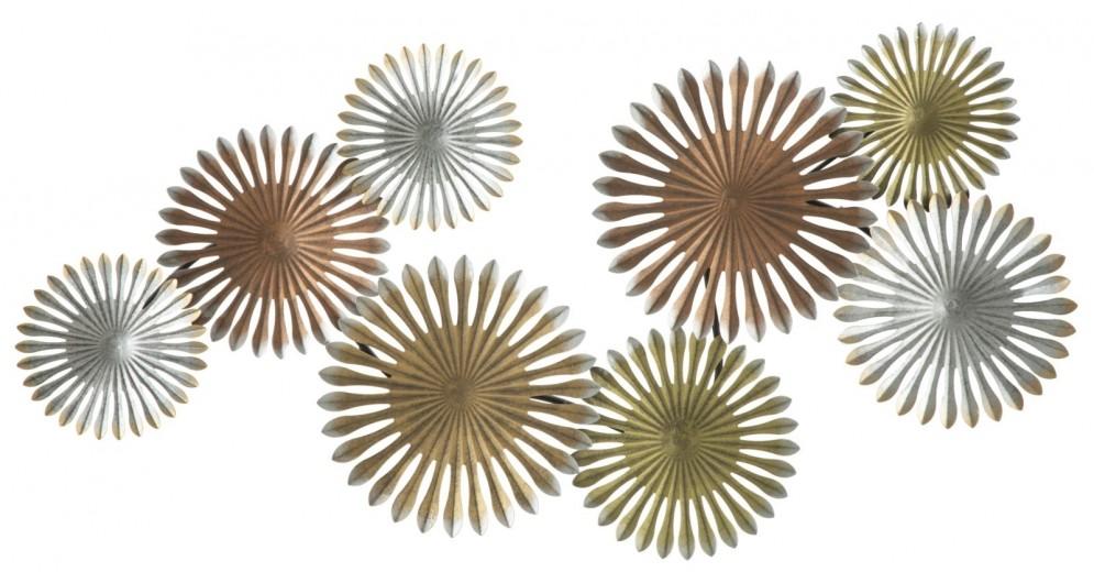 Decoratiune metalica de perete Oxy-A, L110,5xl5xH53 cm