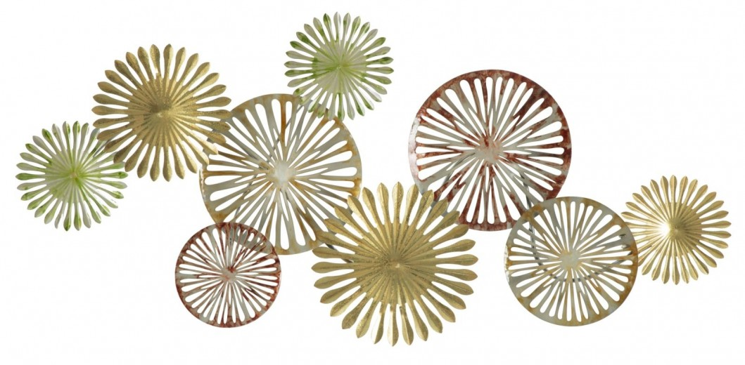 "Decoratiune metalica de perete ""Poe-B"", L128xl5xH61 cm"