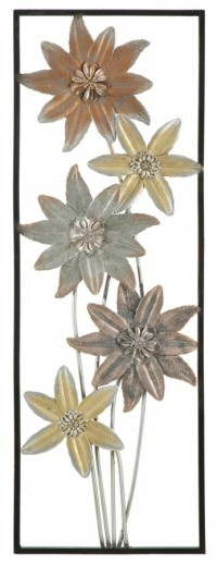 Decoratiune metalica de perete Pox-A, L31xl1,8xH90 cm