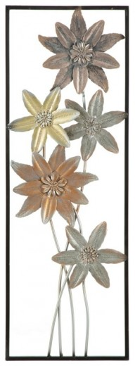 Decoratiune metalica de perete Qiz-B, L31xl1,8xH90 cm